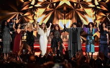 NEW YORK, NY - DECEMBER 02: (L-R) Remy Ma, Serayah, Bebe Rexha, Jojo, Chaka Khan, Patti LaBelle, Teyana Taylor, and Diana Gordon perform onstage during the 2016 VH1's Divas Holiday: Unsilent Night at Kings Theatre on December 2, 2016 in New York City. (Photo by Michael Loccisano/Getty Images)